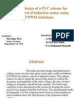 AI based design of a FLC scheme for 2