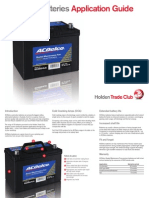 ACDELCO Applications Guide Batteries
