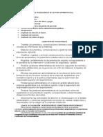 SALIDAS PROFESIONALES DE GESTION ADMINISTRATIVA