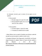 INFORME DE DOCUMENTOS PARA LA CONSTITUCION DE UNA EMPRESA