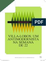 Villa-Lobos Um antimodernista na Semana de 22