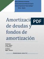 Amortización de deudas y fondos de amortización