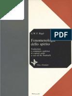 Georg Wilhelm Friedrich Hegel, A Cura Di Marco Paolinelli - Fenomenologia Dello Spirito Vol. 1(1977, Vita e Pensiero) - Libgen.lc