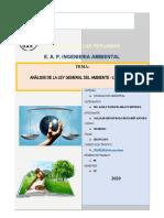 ANÁLISIS DE LA LEY GENERAL DEL AMBIENTE - LEY N° 28611