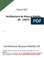 Cours N°2 - Architecture du Réseau Mobile 3G 2021