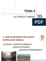TEMA 9. EL ESPACIO URBANO. (1ª  Parte)