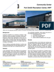 SolarWall Case Study - Fort Smith Recreation Complex - (solar air heating system)