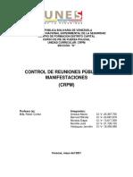 1er Ensayo CRPM, Grupo 6 Seccion D