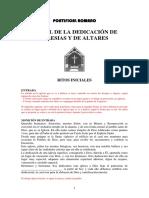 RITUAL DE DEDICACIÓN DE IGLESIAS Y ALTARES