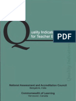 Quality Indicators for Teacher Education