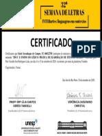 Certificado - Gisele Savanhaque de Campos
