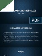 Aula 7 - Operações Aritméticas