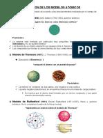 EVOLUCION DE LOS MODELOS ATOMICOS
