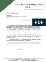 Carta Presentacion a La Municipalidad Provincial de Huaraz