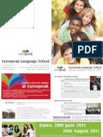 eurospeak summer brochure
