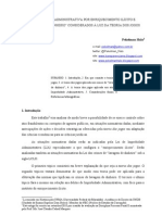 """IMPROBIDADE ADMINISTRATIVA POR ENRIQUECIMENTO ILÍCITO E """"LAVAGEM DE DINHEIRO"""" CONSIDERADOS À LUZ DA TEORIA DOS JOGOS"""