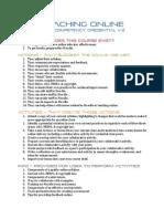Roadmap - Teaching Online Credential