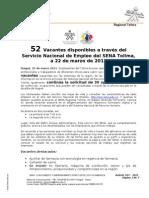 Boletín 017_Vacantes_SNRH_22_03_2011