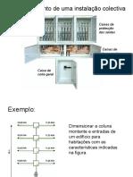Dimensionamento de uma instalação colectiva.1