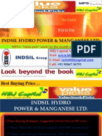 Indsil Hydro Power & Manganese Ltd (Code 522165) - MPS's Value Pick for Aug 2010