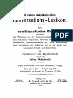 Kleines Musikalisches Konversationslexikon[Sm.mikuli &] 1871