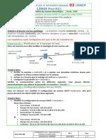 Activité Linux 03 TP DHCP02 M13 2020