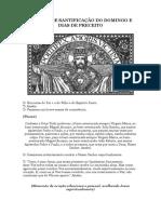 Método de Santificação do Domingo e Dias de Preceito