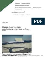 Etapas de um projeto arquitectura - Conheça as fases