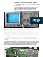 Tektronix-2465B-Oscilloscope-Restoration-Repair