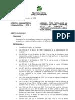 Directiva Administrativa Permanente No 019 DIPON-DIPRO del 131108 ACCIONES PARA FORTALECER EL SERVICIO DE SEGURIDAD EN LA RA