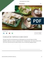 Cuscuz de tapioca com coco