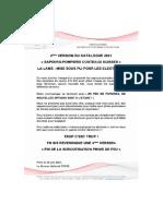 Communiqué Sapeurs-Pompiers Couteaux-Suisses