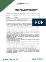 PROPUESTA TALLER DE INTEGRACIÓN I 2021