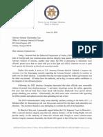 Arizona AG Brnovich letter to Georgia AG Carr