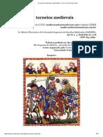 Ricardo da Costa - Os torneios medievais