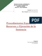 Procedimientos Especiales Procesal Penal