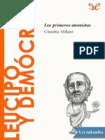 Leucipo y Democrito - Claudia Milani