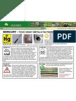 Mercury Toxic Heavy Metals Fact Sheet