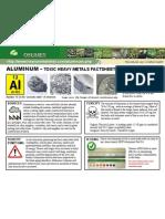 Aluminum Toxic Heavy Metals Fact Sheet