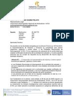 AVALUADOR ERA SIN RAA EN CATEGORIA SANCIONA ANA Y SIC Oificio 20- 261773 del 7 de mayo de 2021 ojo