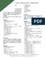 Exercices Et Correction _ Algorithmique Langage Pascal