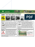 Lead Toxic Heavy Metals Fact Sheet