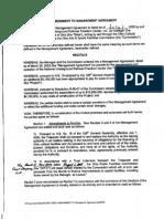 NURFC 1st Amendment to Management Agmt