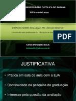 CRENÇAS SOBRE AVALIAÇÃO EM LÍNGUA INGLESA forum de letras puc