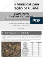 Estudos Temáticos (zoneamento) para Microregiao de Cuiabá