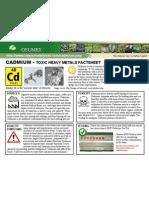 Cadmium Toxic Heavy Metals Fact Sheet