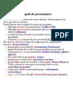 Reguli de pronunţare