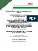 Formato 12 Informe de Visita de Control