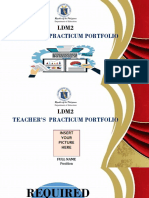LDM2 Practicum Portfolio for Teachers
