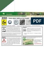 Zinc Toxic Heavy Metals Fact Sheet